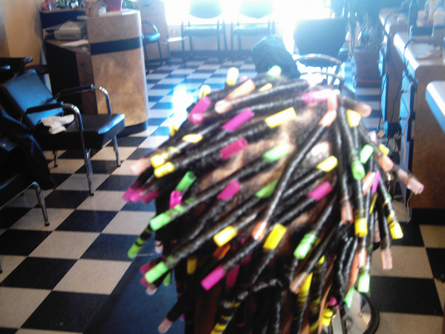Straw Set I did With Straws Still In The Hair